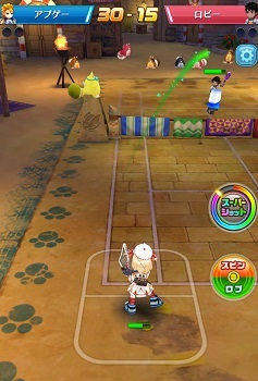 白猫テニス-ロブとスマッシュ